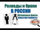 Разводы и браки в России. Интересные факты. Семья уже редкость!