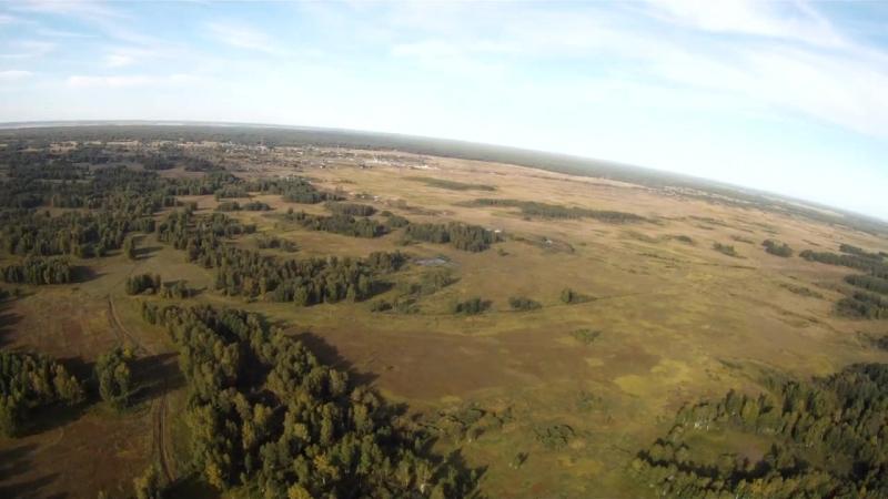 Деревня кокошино с воздуха, Новосибирская область