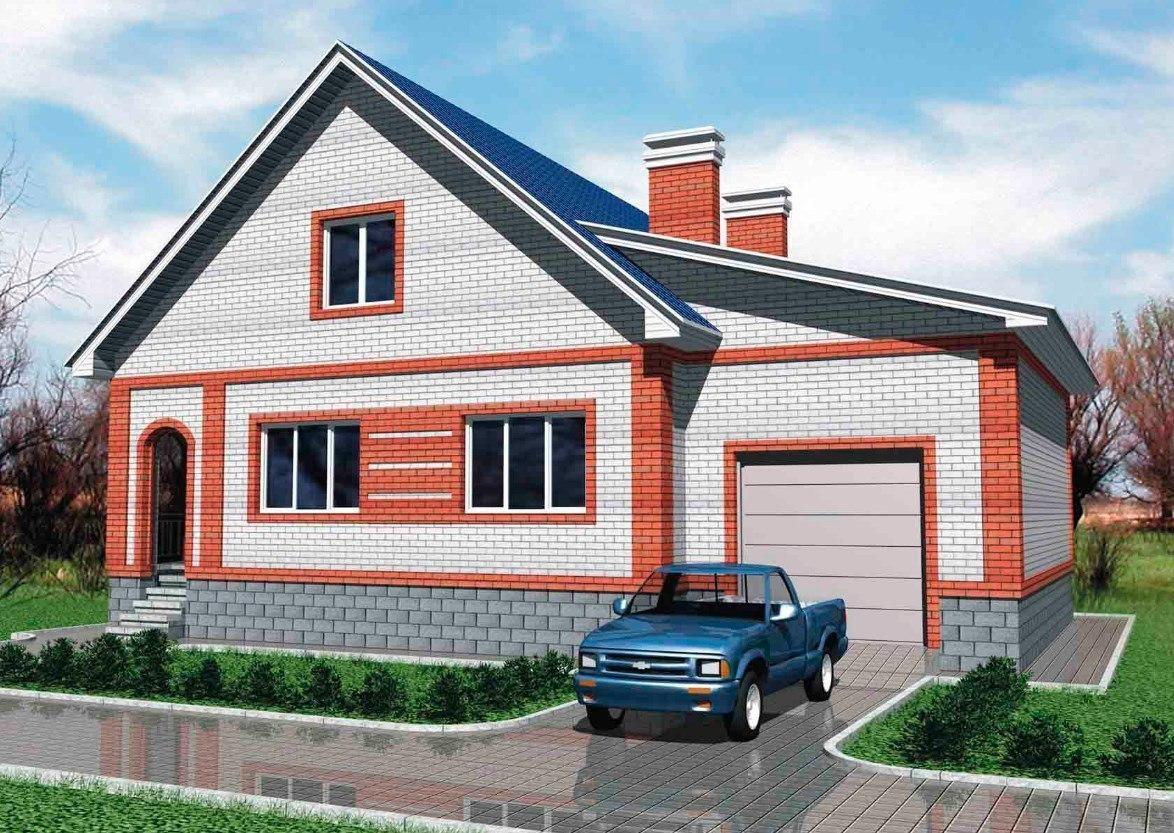 небольшой кирпичный дом с гаражом фото кастрюли сковородки сверхпопулярной
