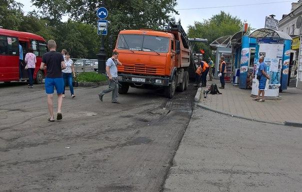 Замуровали автобусную остановку от хабаровчан