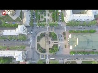 Митинг-Реквием по погибшим в Одессе. Видео с коптера на главной площади Донецка