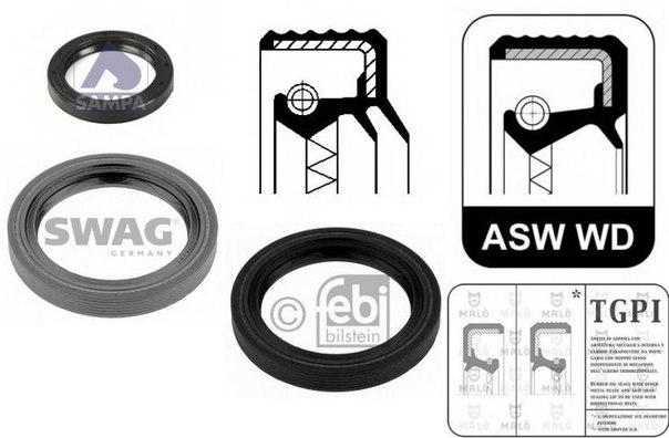 Уплотняющее кольцо, дифференциал; Уплотняющее кольцо, раздаточная коробка; Уплотняющее кольцо, ступица колеса для AUDI COUPE (89, 8B)