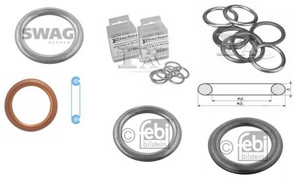 Уплотнительное кольцо, резьбовая пр для AUDI Q3 (8U)