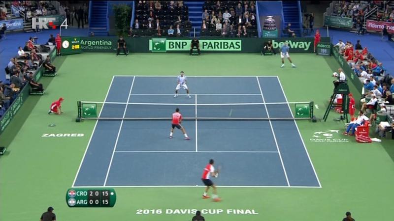 Cilic/Dodig - Del Potro/Mayer 3-0, Hrvatska povela sa 2-1 (Davis Cup Final CRO-ARG), 26.11.2016. HD