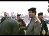 القائد صدام حسين - يتجول في بغداد أمام حشد من الجماهير برغم القصف الشديد
