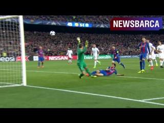 Победный гол Серхи Роберто в ворота ПСЖ
