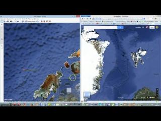 Осколки ДаАрии на гугл картах 2009 Следы эти стёрли в 2012 г.mp4