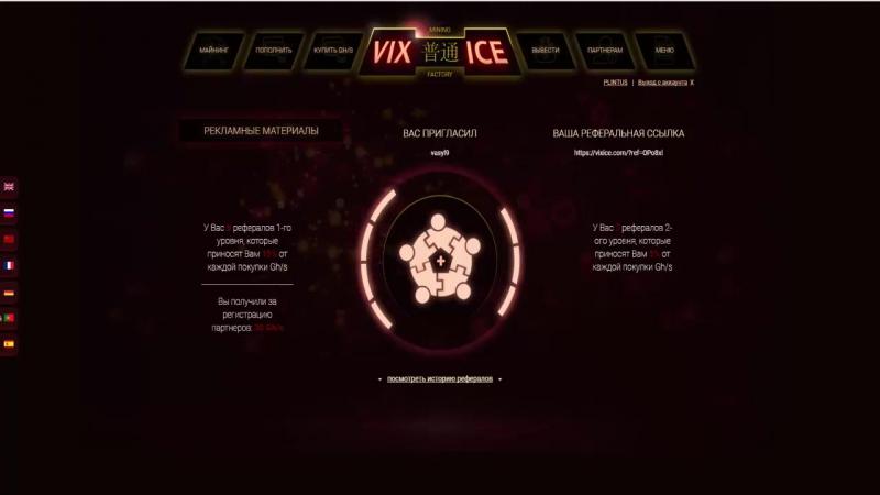 заработок в интернете. Облачный майнинг. Новый проект vixice без вложений Бонус 1$ при регистрации