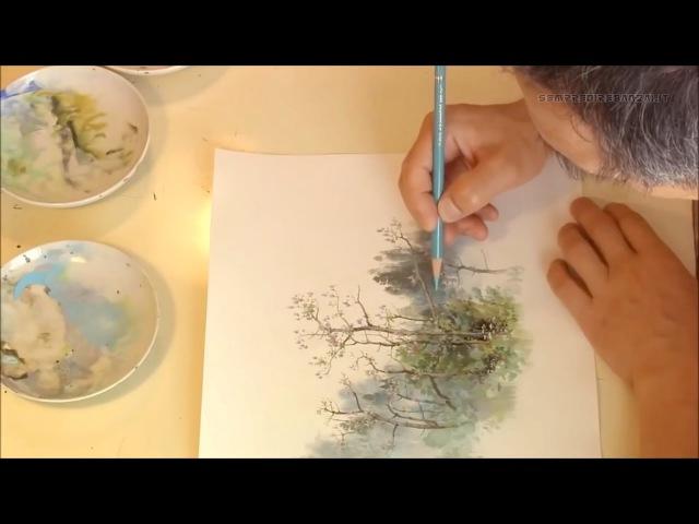 Studio Ghibli Artist Kazuo Oga Painting Process