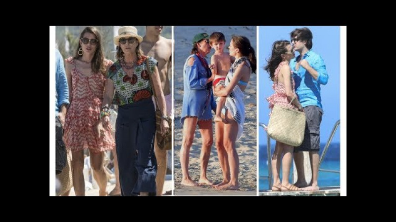 Princess Caroline, Charlotte, Raphael and Dimitri Rassan Enjoy Summer Vacation in. St Tropez