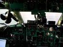 Ту-134 запуск двигателей и взлет вид из кабины
