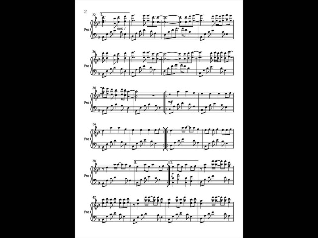 In The End Linkin Park Piano Cover Sheet Music