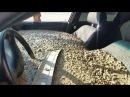 Көліктің ішіне бетон құйып тастады