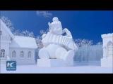 Снежные терема, палаты и многое другое на северо-востоке Китая