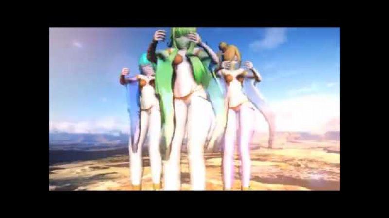 MMD X VOCALOID X OC Ebby Miku and Anvu Belly Dance DL Test Model