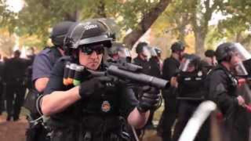 Разгон Демонстраций в США и ЭСочень прям демократично