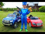 Kids Car Accident Разбила машину Handyman CATBOY Repairs Car for Bad Kid Owlette with Tools