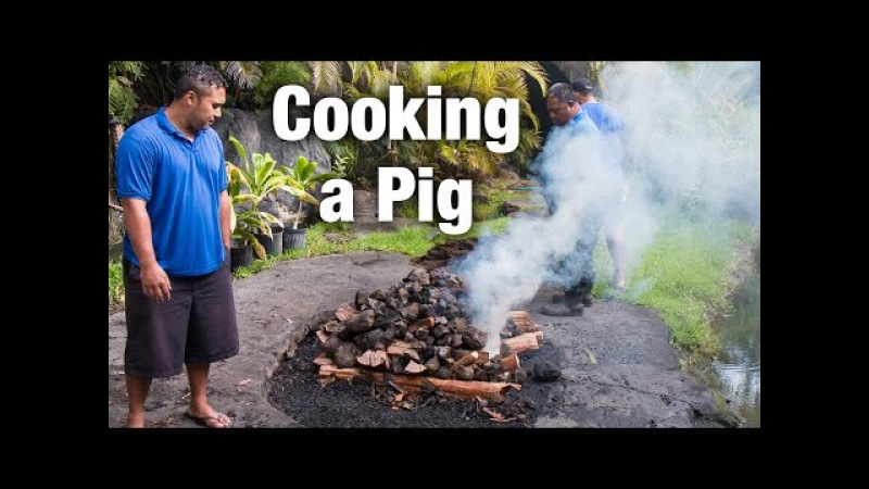 Polynesian Cultural Center Luau How to Cook a Pig in an Imu