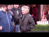 EXCLUSIVE Roman Polanski at the Avenue restaurant in Paris