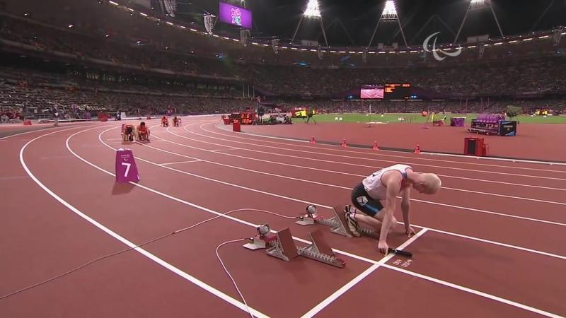 Athletics Men's 4x100m T11 T13 Final London 2012 Paralympic Games