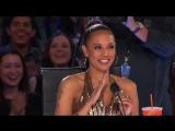 Eric Jones- Magician Shocks Mel B with Coin Trick - Americas Got Talent 2017