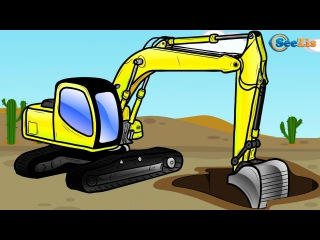 NEW Cartoons for children - The Excavator - Truck Video for Kids Construction Cartoon