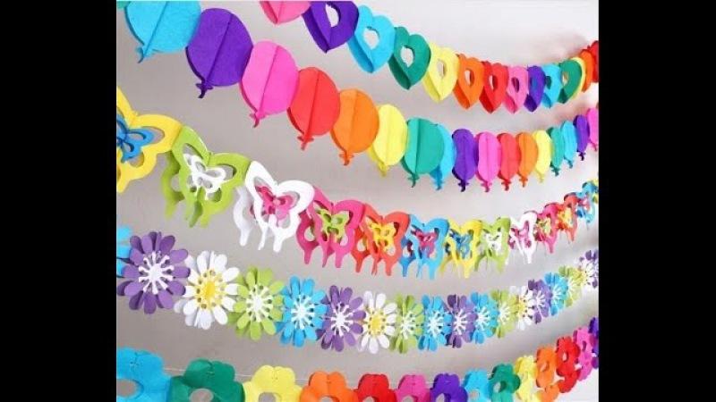 Новогодние гирлянды своими руками для украшения детского сада и дома