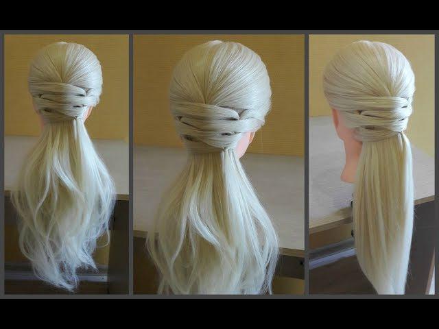 Легкая прическа для длинных средних волос.🌸Делается очень легко самой себе.❤