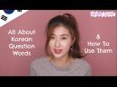 All About Korean Question Words (누구, 언제, 어디, 무엇, 왜, 얼마, 무슨, 어느, 몇, 어떻다) | 한국언니 Korean Unnie
