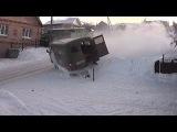 LiveLeak - Van Slides Down Snowy Hill