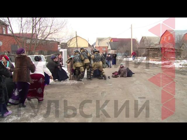 ОМОН задерживает цыган в Плеханово