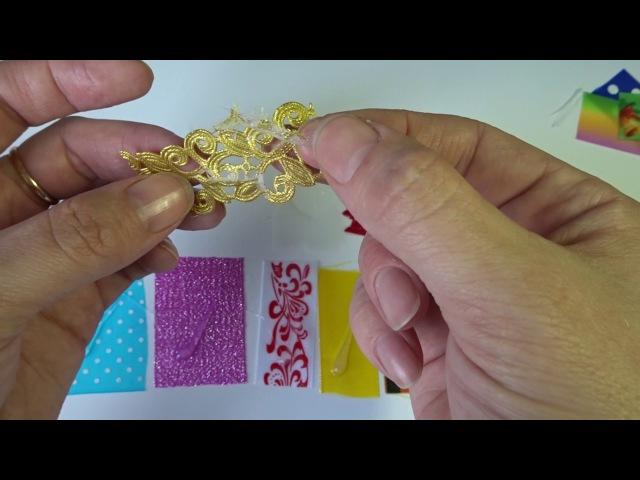 Как удалить горячий клей с ткани или ленты