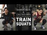 Marisa Inda &amp Cali Nguyen Squat Training  JTSstrength.com
