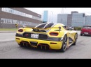 2017 Koenigsegg Gathering - Cars arrive and leave! Accelerations and sounds