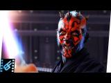 Qui-Gon &amp Obi-Wan vs Darth Maul Star Wars The Phantom Menace (1999) Movie Clip