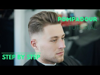 Pompadour Drop Fade - How to Step by Step tutorial