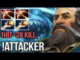 !Attacker Most Insane Kunkka Player 1Hit = 2x Kill 2x Divine 2x Daedalus - Dota 2
