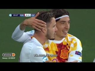Чeмпиoнaт Eвpoпы U-21. Portugal 0:1 Spain | Cayль