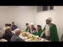 Рустам Хазрат в Белой мечети на ифтаре читает проповедь