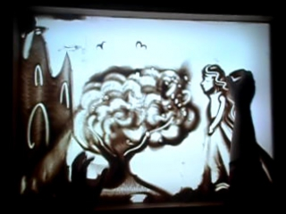 Песочная анимация на песню группы Марьяж
