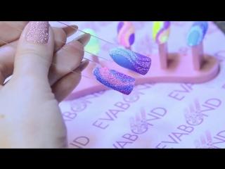 Декор на ногтях - цветной сахар. Дизайн ногтей пошагово. Рисунки и узоры на ногтях