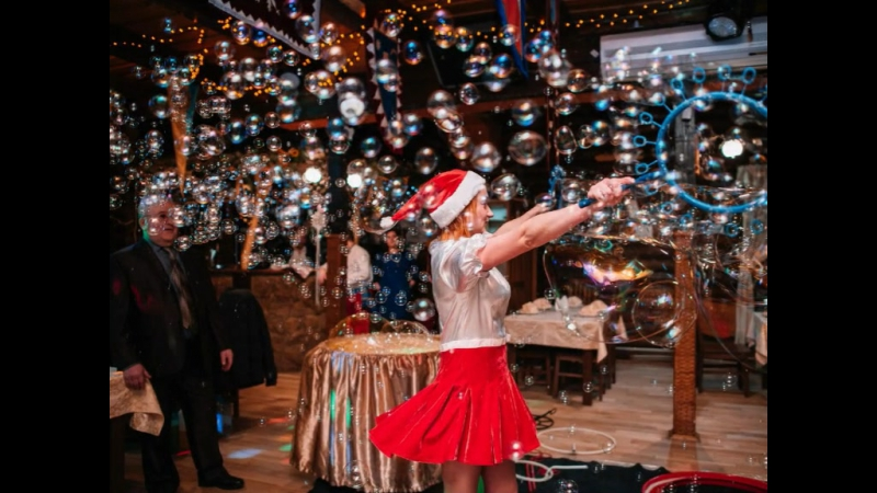 Шоу мильних бульбашок від Обнімашок для Анічки