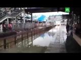Необычное прибытие поезда в Мумбаи