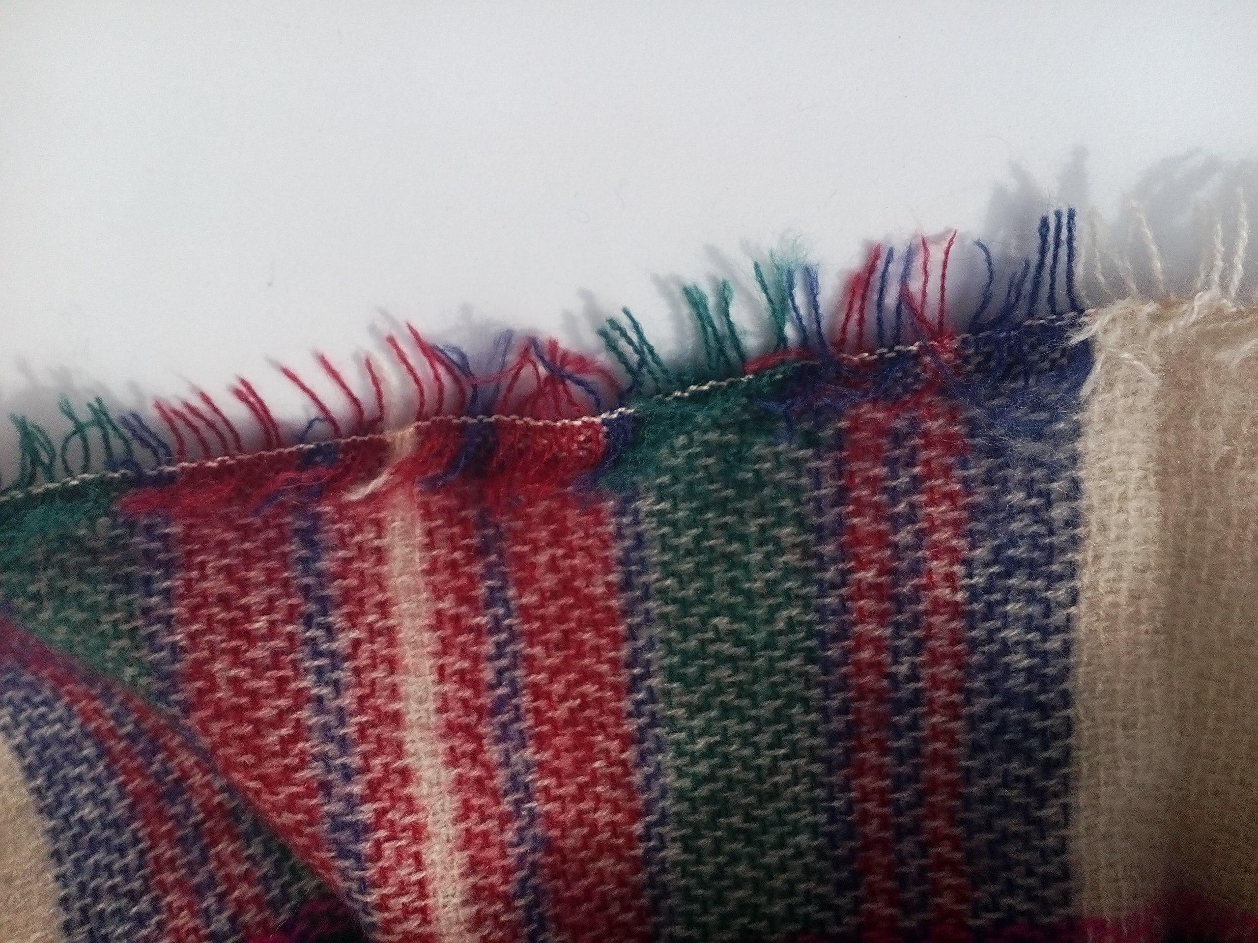 Мягусенький клетчатый шарф