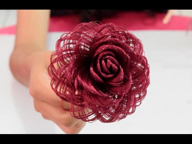 Como hacer una rosa de tela Fabric Flowers Roses Dia de las madres - Loveluzlop