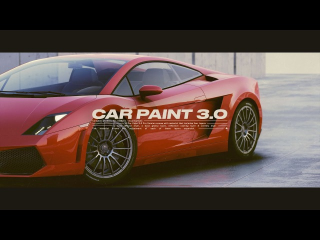 Car Paint 3.0 / REALTIME - Unity3D / Advanced Paint PBR Shader / AssetStore -- 4k 60fps