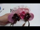 Diadema de Minnie Mouse /Tiara de flores pequeñas/Como Hacer Lazos