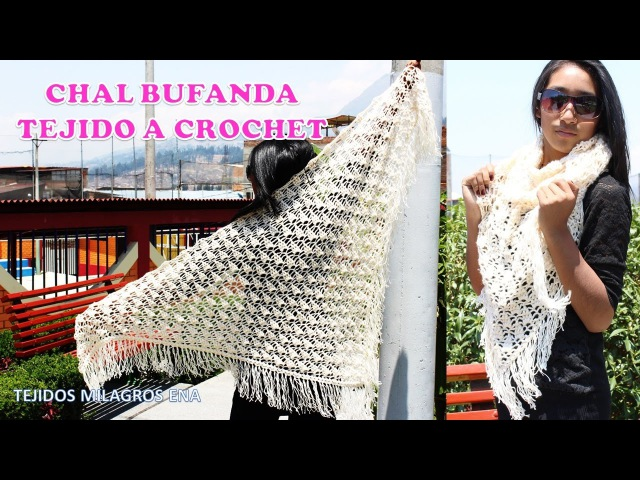 Chal Bufanda tejido a crochet en punto UVAS paso a paso para damas