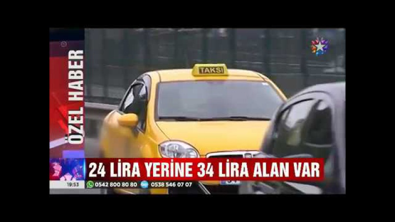 Uyanık taksicilerin Avrasya tüneli tarifesi