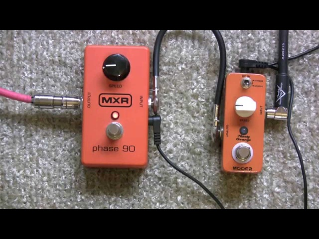 MXR Phase 90 Vs Mooer Ninety Orange Clone Pedal Shootout